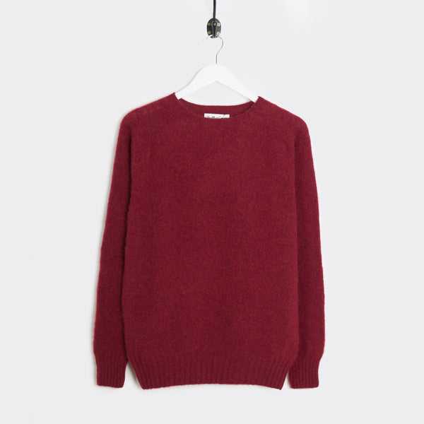 YMC Suedehead Brushed Knit - Red - 1