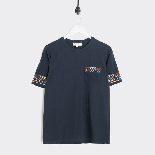 YMC Wild Ones Africa Embroidery T-Shirt - Navy - 1