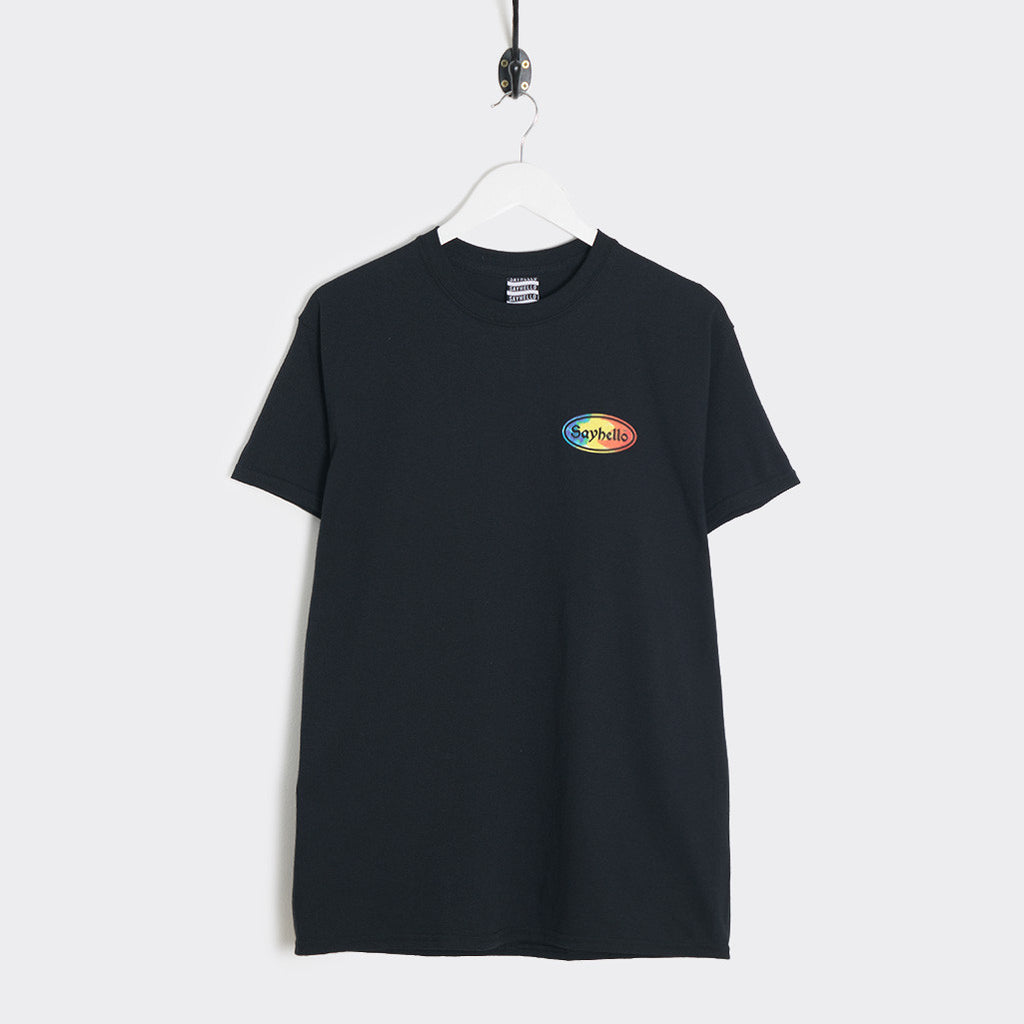 Sayhello Cash Logo T-Shirt - Black T-Shirt - CARTOCON