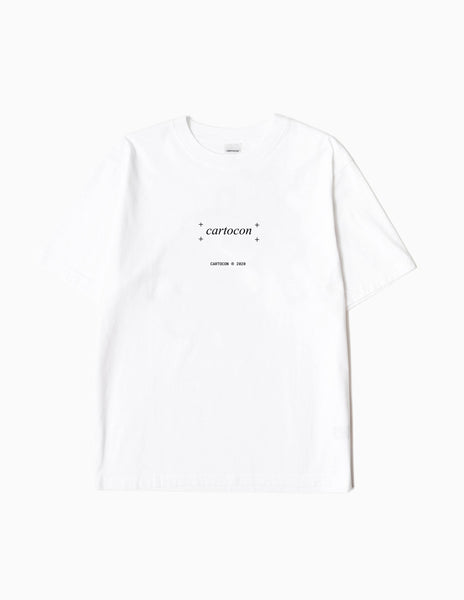 CARTOCON Times New T-Shirt - White