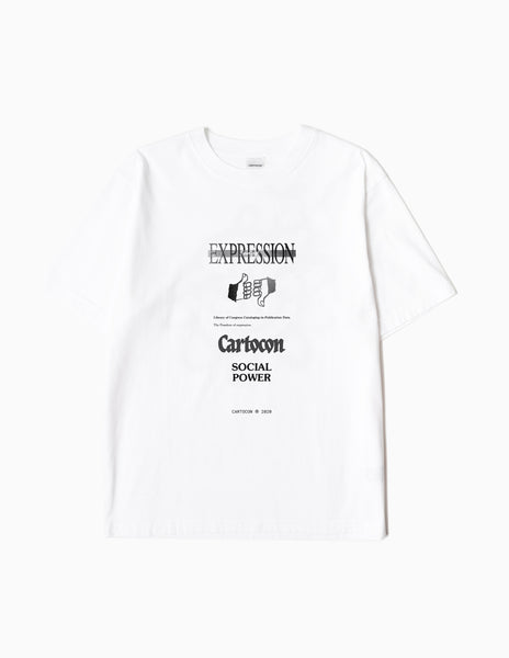 CARTOCON Social Power T-Shirt - White