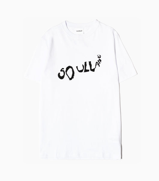Soulland Fridell T-Shirt - White/Black T-Shirt - CARTOCON