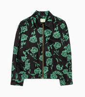 Aries Zip Rose Twill Jacket - Black Jacket - CARTOCON