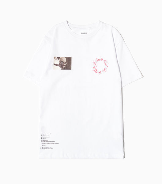 Soulland Anders T-Shirt - White T-Shirt - CARTOCON