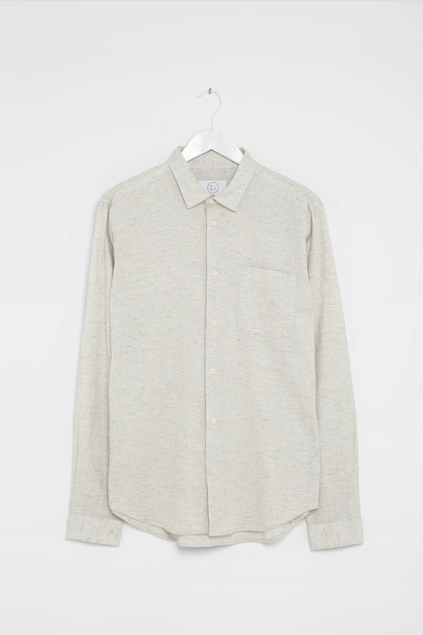 Form & Thread Essential Shirt - Ecru/Black Melange
