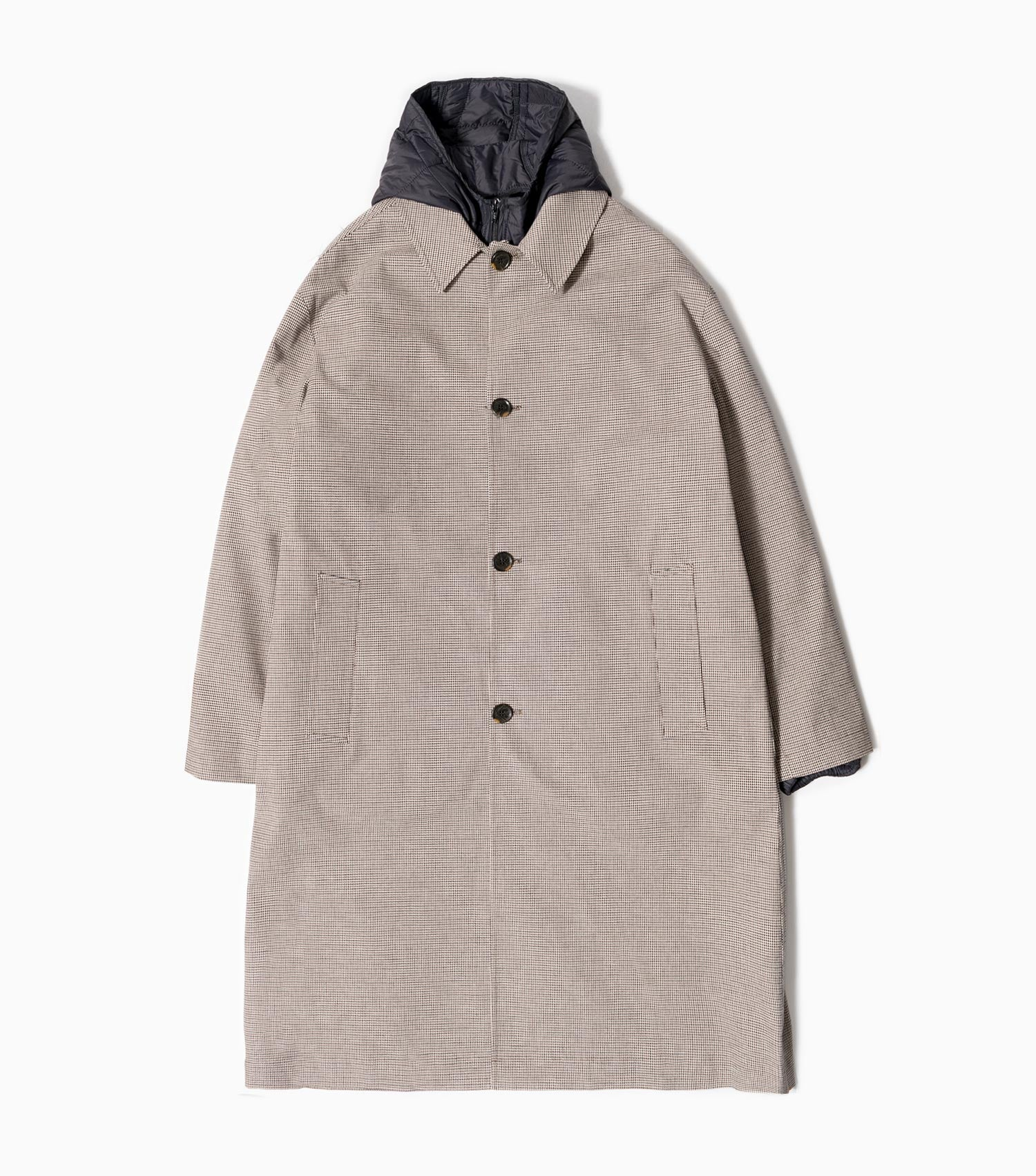 mfpen Isolation Oversized Coat - Beige Check