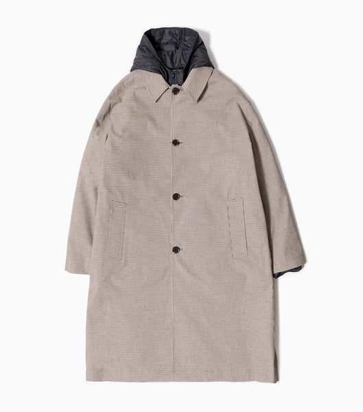 mfpen Isolation Oversized Coat - Beige Check Jacket - CARTOCON