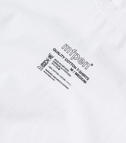 mfpen Tagless T-Shirt - White T-Shirt - CARTOCON