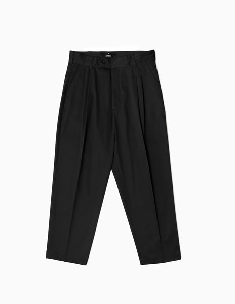 mfpen Scene Pleated Trousers - Black Trousers - CARTOCON