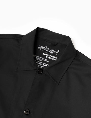 mfpen Field Overshirt - Black Shirt - CARTOCON