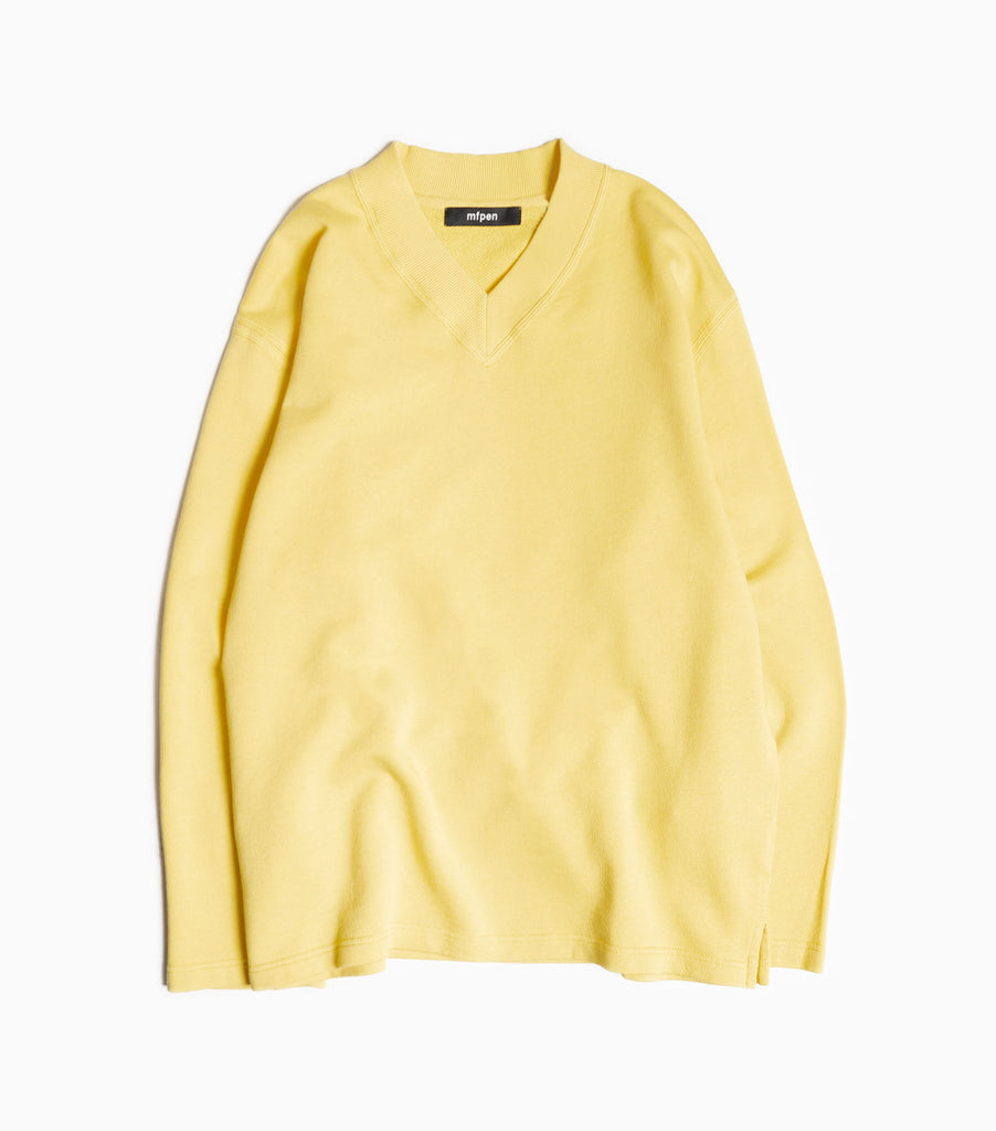 mfpen Oversized LS V Sweater - Butter Yellow