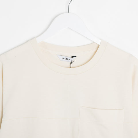 mfpen 01 Pocket Longsleeve - Off White  - CARTOCON