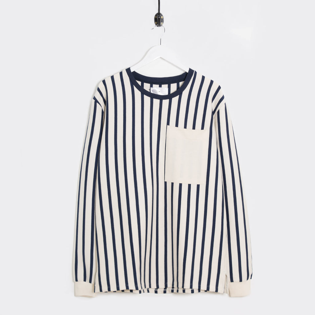 mfpen Striped Long Sleeve T-Shirt - Off White - 1