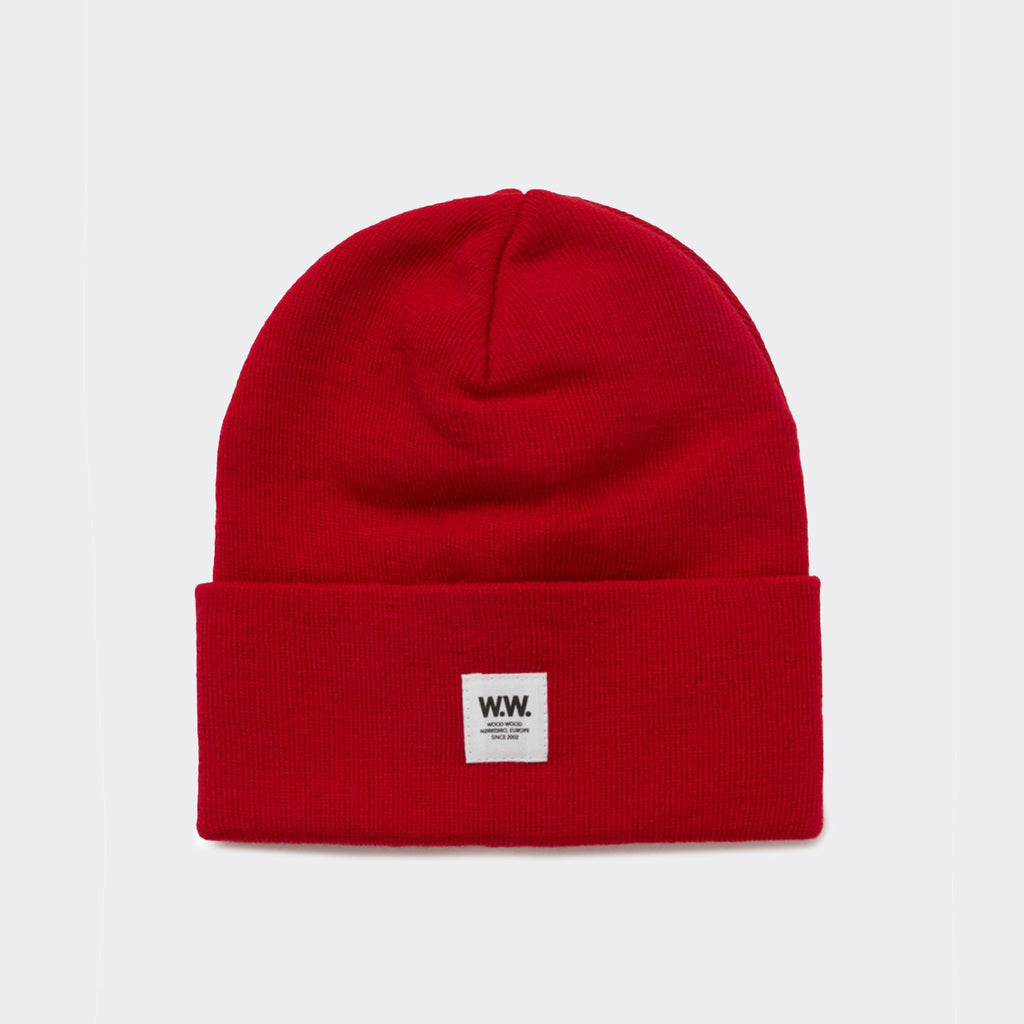 Wood Wood Gerald Tall Beanie - Red