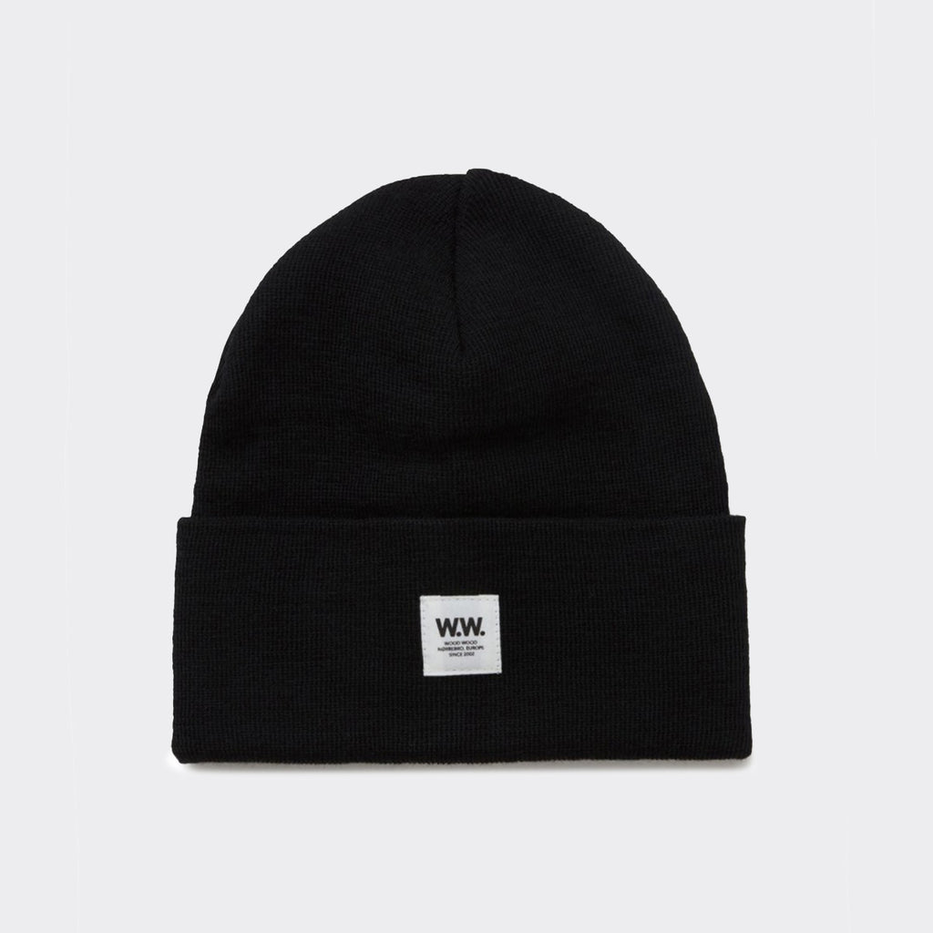 Wood Wood Gerald Tall Beanie - Black