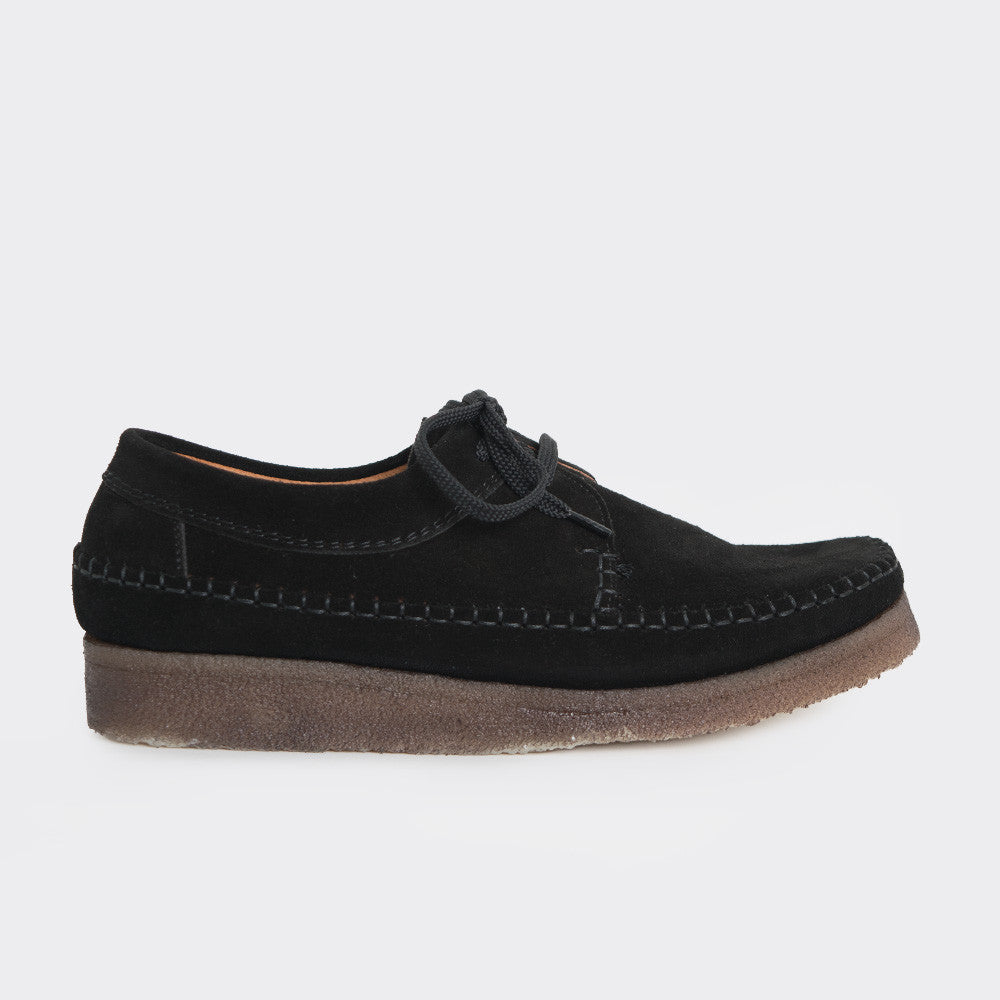 Padmore & Barnes Willow Shoes - Black Suede - 1