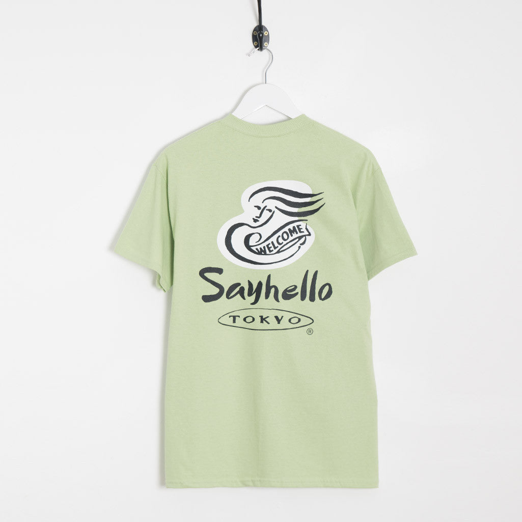 Sayhello Tokyo Welcome T-Shirt - Washed Green T-Shirt - CARTOCON