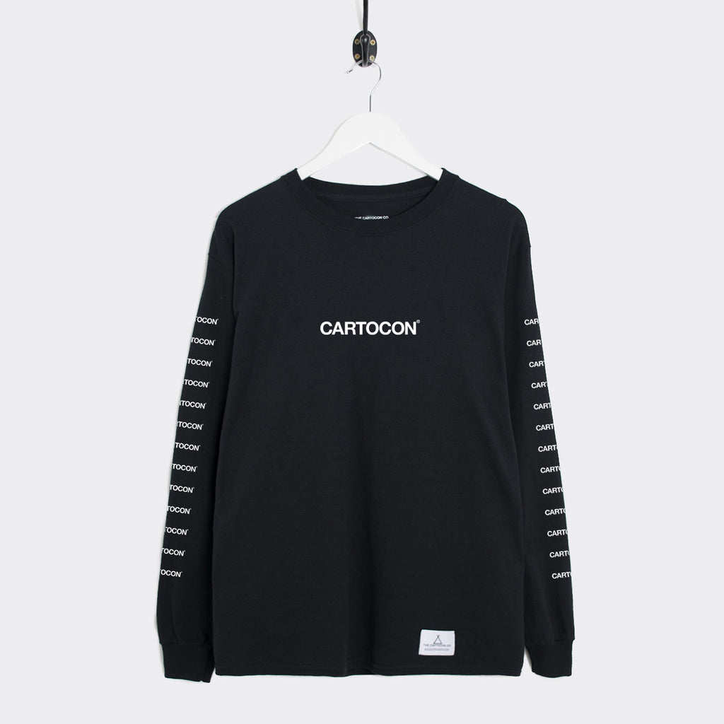 Cartocon Multi Print Long Sleeve T-Shirt - Black