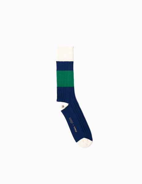 YMC Sports Socks - Blue/Green Socks - CARTOCON