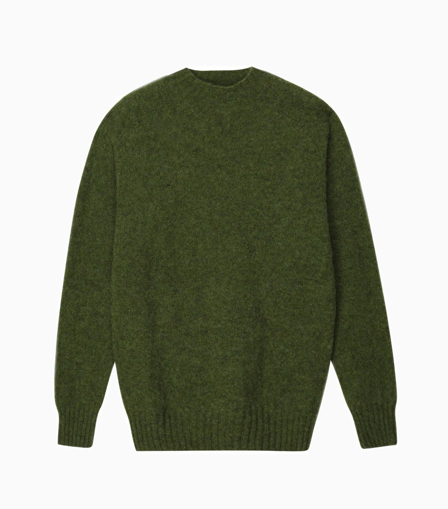 YMC Suedehead Crew Kitted Jumper - Green