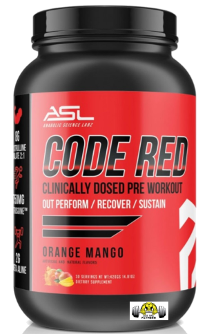 Code Red Premium Clinically Dosed Pre-Workout by Anabolic Science Labs