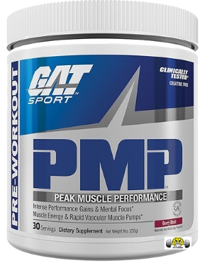 PMP (Peak Muscle Performance) Intense Pre-Workout Powder by GAT