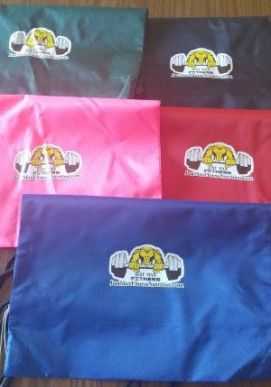 JMFN Drawstring Gym Bag by Just Max Fitness Nutrition