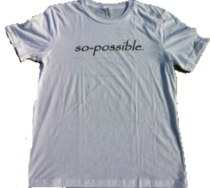 Men's Inspirational Tee Shirt by So-Possible