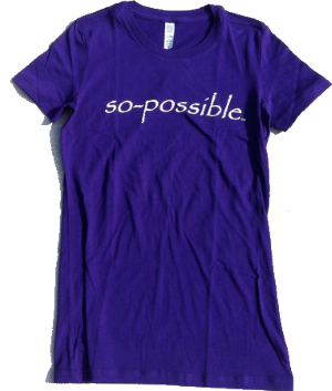Women's Inspirational Tee Shirt by So-Possible