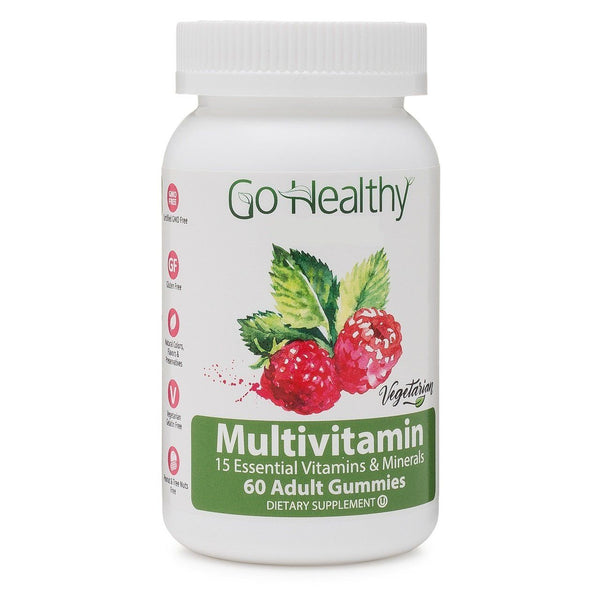 Multivitamin Gummy for Men and Women, Vegetarian Fruit-Based 60 ct 30 Servings-Gluten Free, Non-GMO, Halal, Kosher