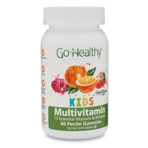Multivitamin Gummy for Kids, Vegetarian, Fruit-Based 60 ct 30 Servings Gluten Free, Non-GMO, Halal, Kosher