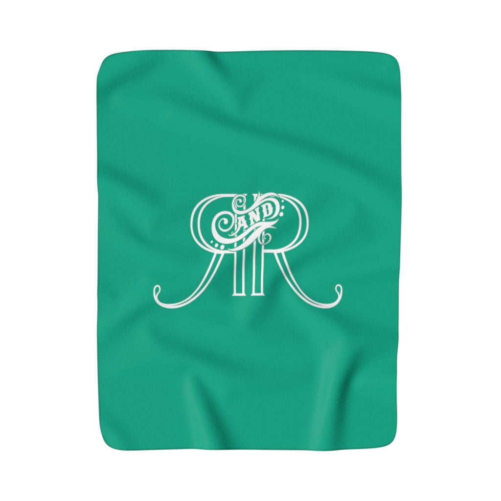 Relics and Rarities - Sherpa Fleece Blanket (Emerald)