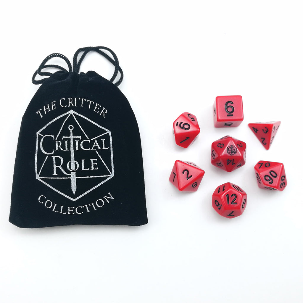 Critical Role Live Red Dice Set