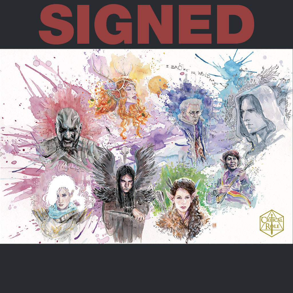 *SOLD OUT* Critical Role 100th Episode David Mack Art Print SIGNED