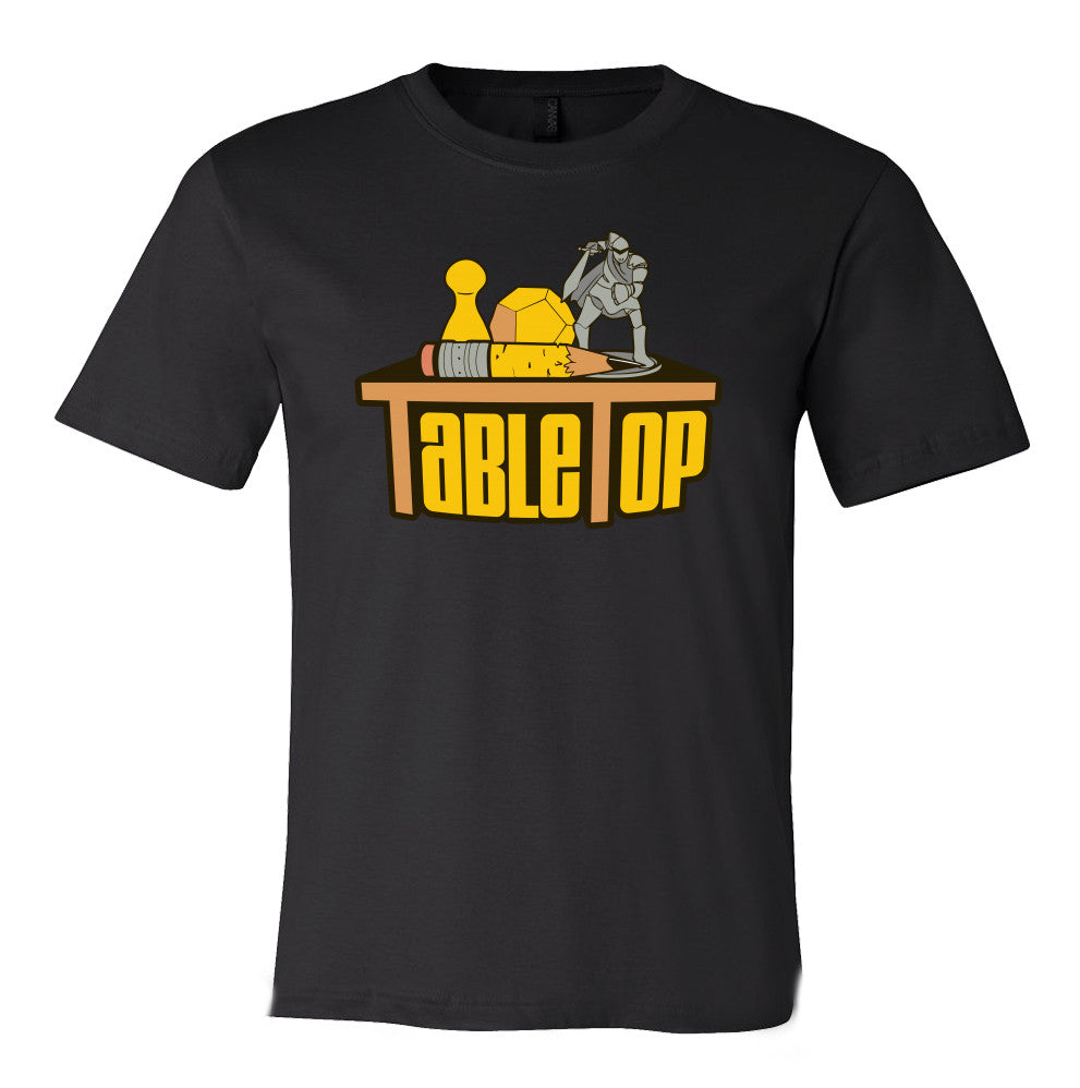 tabletop black t shirt geek sundry store