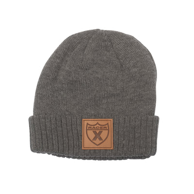 Shield Leather Patch Beanie