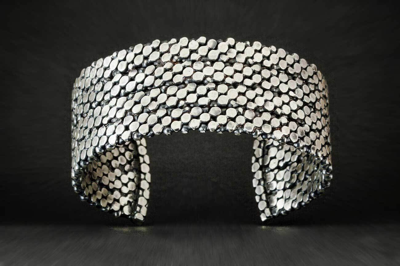Stepping Stones Cuff with Black Diamonds