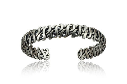 Tarnished Sterling Silver Cuff