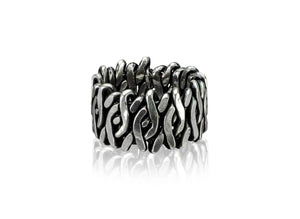 SOLD - Men's Ring, Tarnished Silver