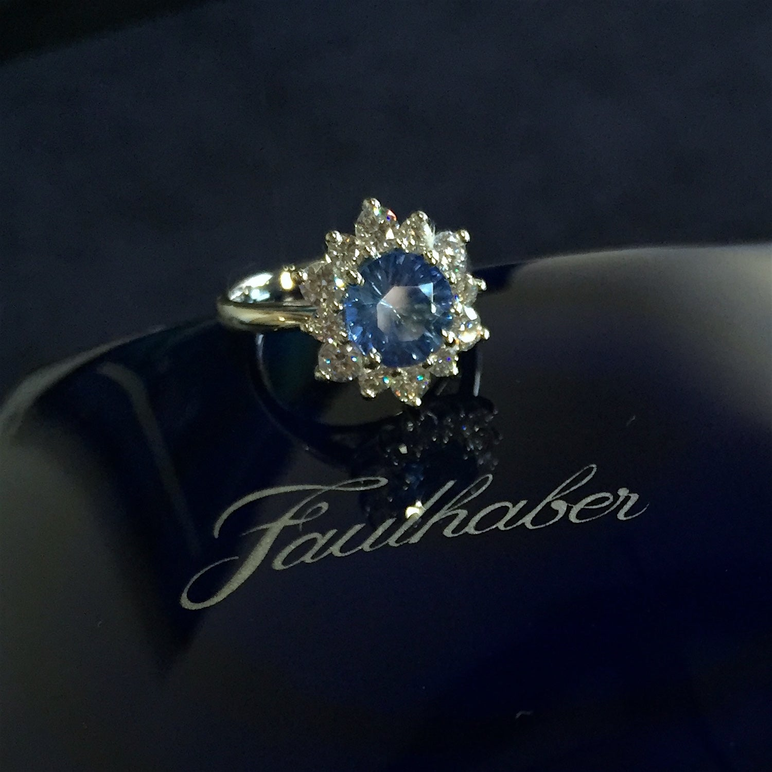 sapphire diamond engagement ring custom design san diego
