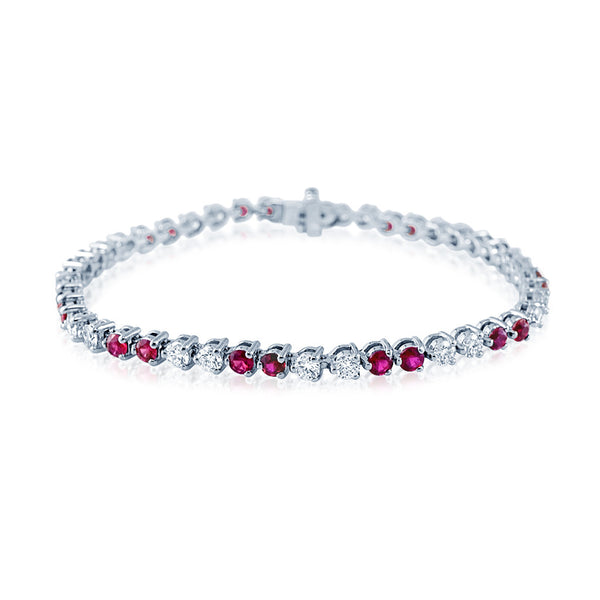 Eternity Diamond Ruby Bracelet San Diego