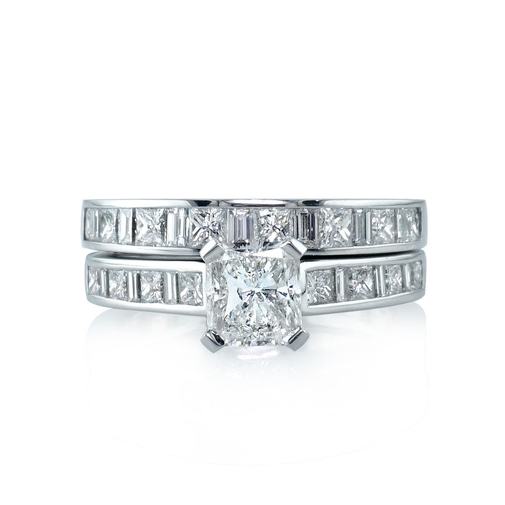 Princess Cut Baguette Channel Set Diamond Wedding Band