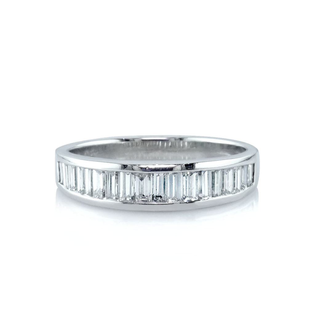 Baguette Channel Set Wedding Band San Diego