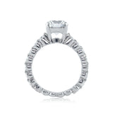 Round Diamond Engagement Ring with a Cup Setting