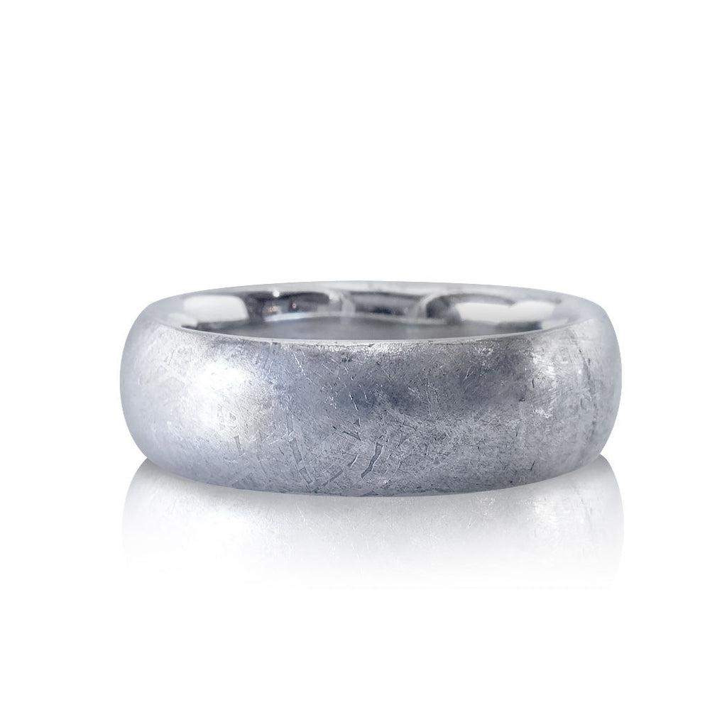 Meteorite Rounded Comfort Fit Men's Wedding Band