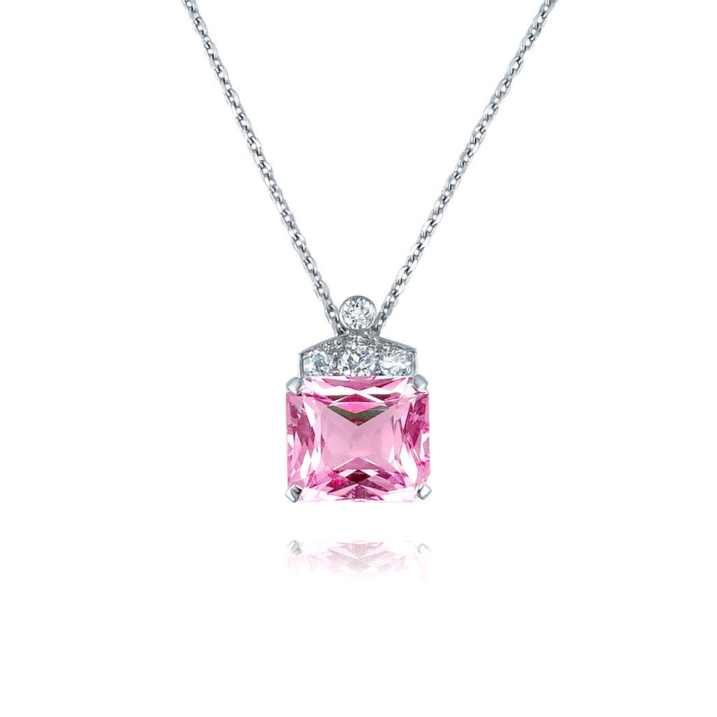 gold in prong wg necklace sapphire nl solitare jewelry open drop solitaire pink heart white round set with dark pendant