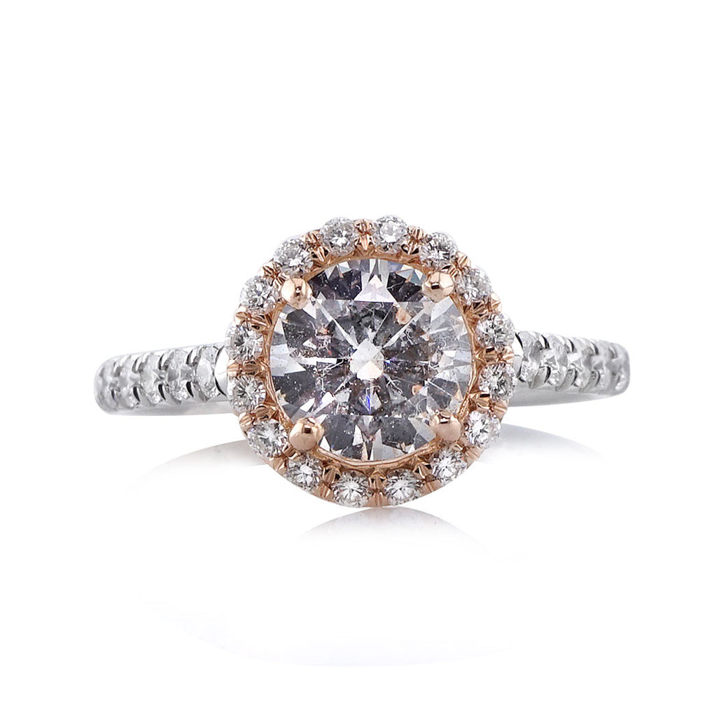 Vintage Rose Gold Cup Engagement Ring
