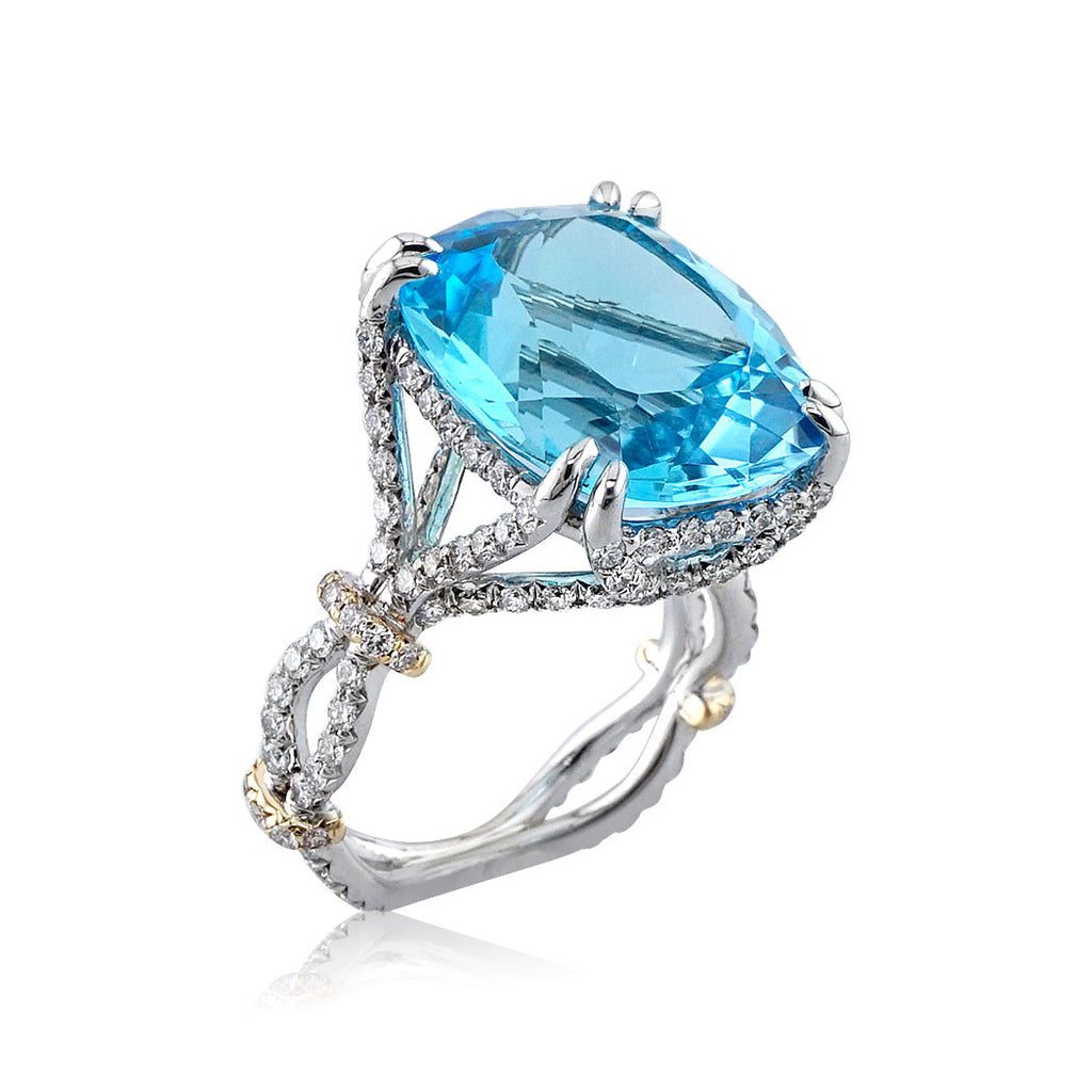 ring and rings p white gold blue topaz