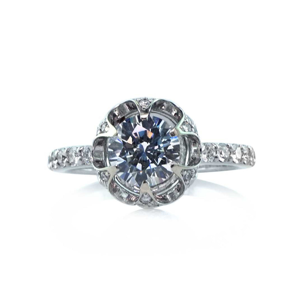 Faulhaber Lotus Diamond Engagement Ring