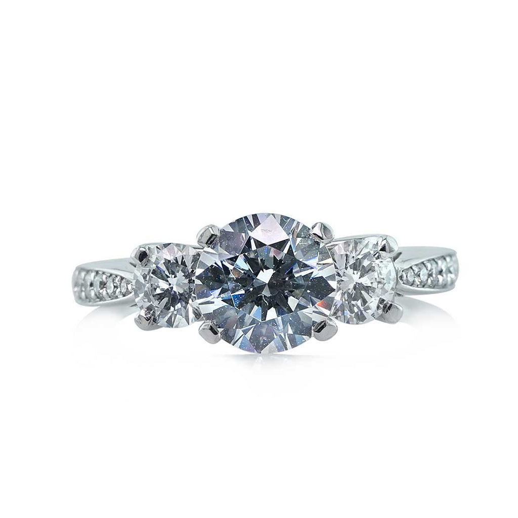 Tapered Three Stone Diamond Engagement Ring